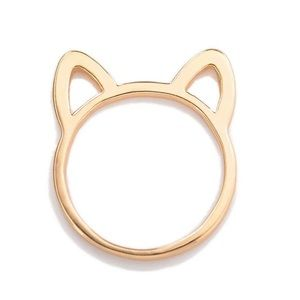 fancy fashions Jewelry - Cute Gold Kitty Cat Ring